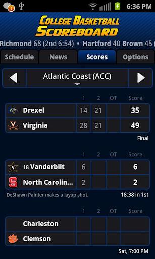 College Basketball Scoreboard+