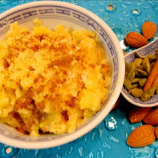 Baked Saffron Rice Pudding