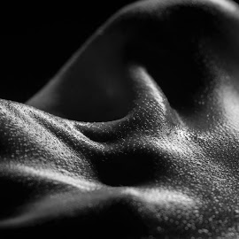 Crowded hills by Дмитрий Евтеев - Abstract Macro ( body, model, b&w, drop, beauty, mannequin, character, blackandwhite, massage, girl, anatomy, bone, care, collarbone, fragment, cravicle, black, hill, doll, beautiful, muscle, health, human, luxury, frame, female )