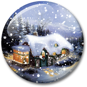 Снегопад  Живые Oбои