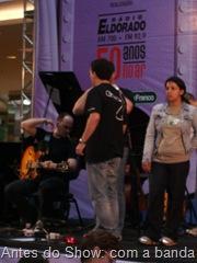 Antes do Show: com a Banda