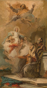 RIJKS: Giovanni Battista Tiepolo: The Immaculate Conception (Joachim en Anna receiving the Virgin Mary from God the Father) 1759