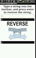 Screenshot of Reverse String Algorithm