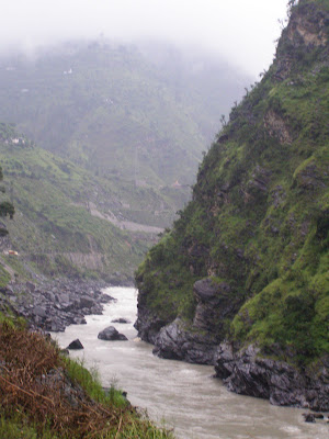 The Beas River seen from the tea stall