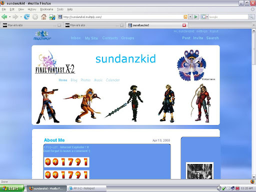 multiply themes, Final fantasy X-2 theme, multiply layout