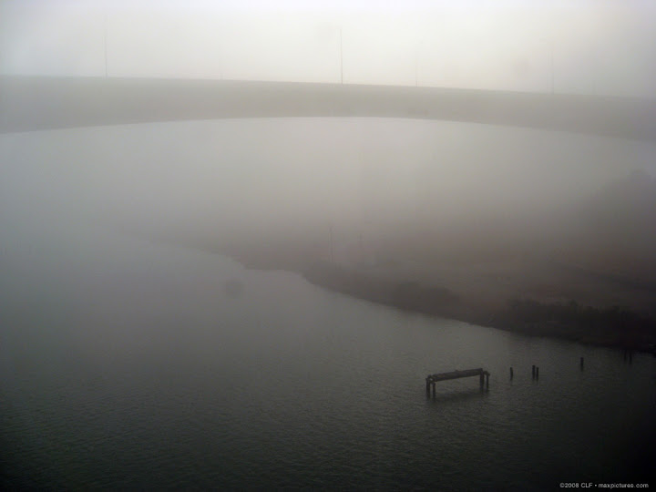 Benicia Bridge in the fog