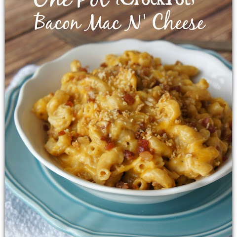 One Pot Wonder (CrockPot) Bacon Macaroni and Cheese