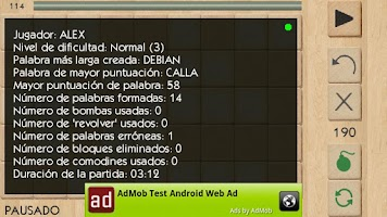 Screenshot of Palabras