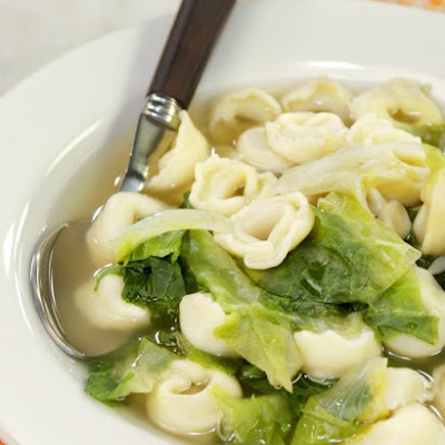 Tortellini Soup with Escarole