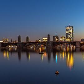 Boston Never Sleeps.... by Dennis Breyt - City,  Street & Park  Skylines