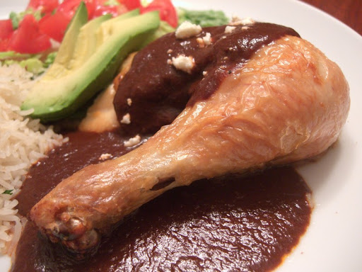 Roast Chicken with Mole Coloradito