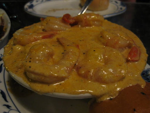 Cheese Grits with Shrimp at Tapas By Anna in Savannah, Georgia
