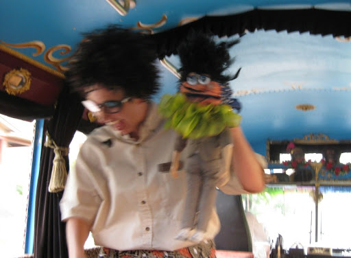 Puppetry On Board the LaZoom Tour Bus