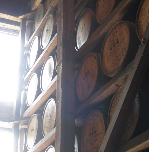 Barrels Aging at Woodford Reserve Distillery