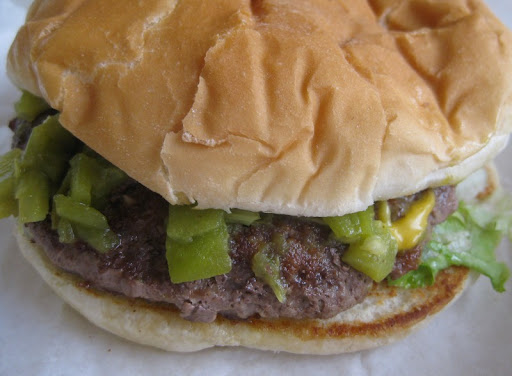 Green Chile Cheeseburger at Lotaburger