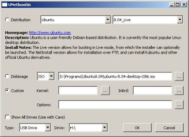 Установка семейства Linux на USB