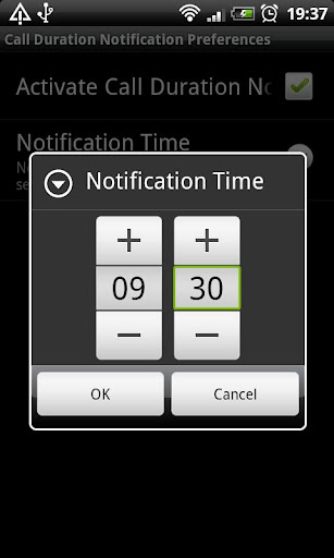 Call Duration Notification