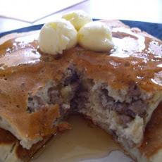 Light Apple Blueberry Pancakes