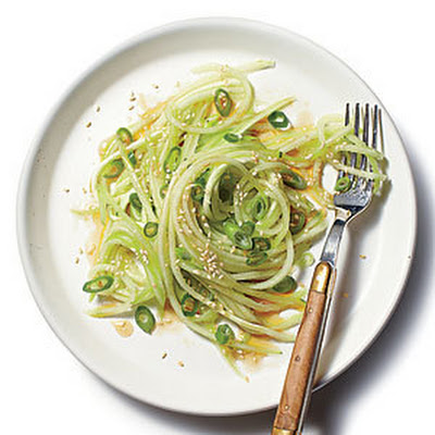 Scallion-and-Benne Cucumber Noodles