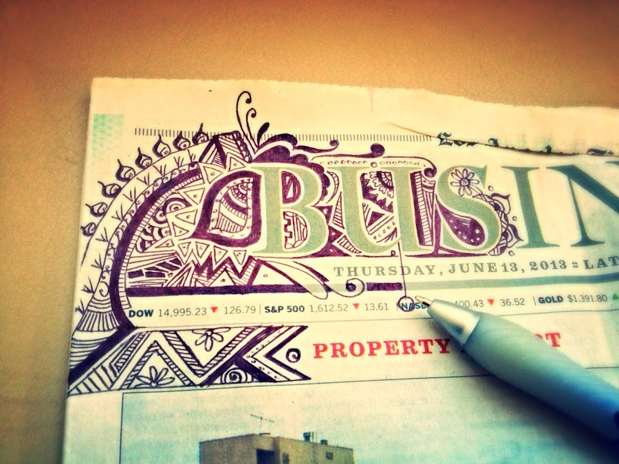 Business is Never Boring by Marvelous Hella - Instagram & Mobile iPhone ( doodle, paper, art )