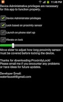 Screenshot of Proximity Lock