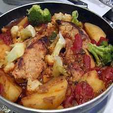 Pork Chops One Pan Supper