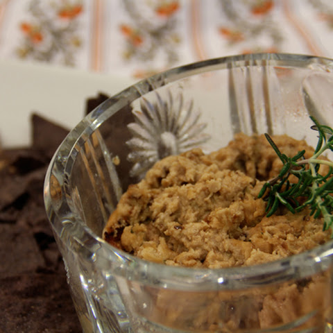 Navy Bean Ricotta Dip with Caramelized Onions and Rosemary