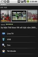 Screenshot of Metfone MobileTV