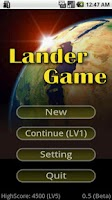 Screenshot of Lander Game