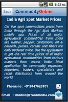 Screenshot of Commodity Spot Prices In India