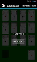 Screenshot of Fours Solitaire