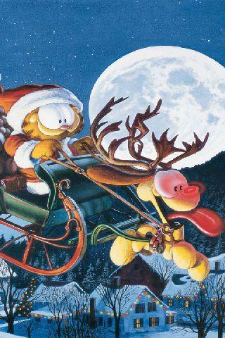 Garfield and Odie's Sleigh WP