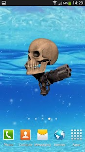 Pirate Skull Live Wallpaper - screenshot