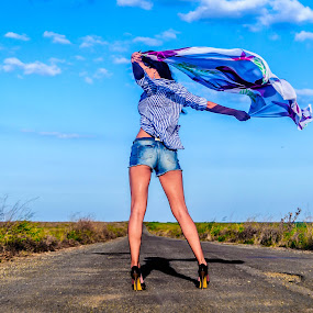 FLY LIKE AN EAGLE... by Adrian Marin - People Portraits of Women
