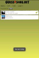 Screenshot of guessasong