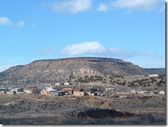 Village and a dead volcano in New Mexico