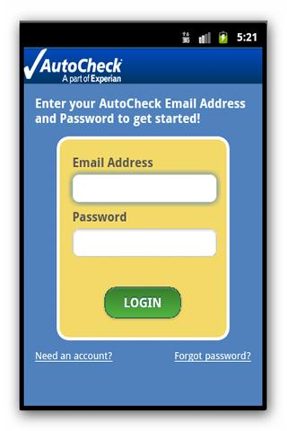 AutoCheck® Mobile for Consumer