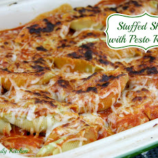 Stuffed Shells with Pesto Ricotta