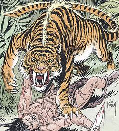 Saber tooth tiger cartoon