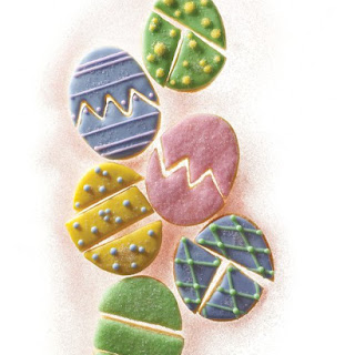 Easter Egg Puzzle Cookies