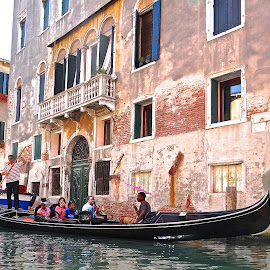 Gondola in Venice by Steven Aicinena - City,  Street & Park  Historic Districts ( gondola, venice, canal )