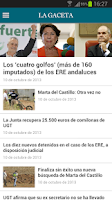 Screenshot of La Gaceta
