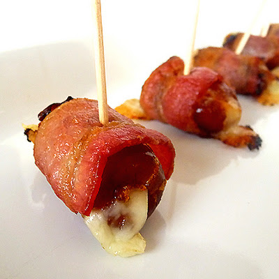 Fontina-Stuffed, Bacon-Wrapped Dates