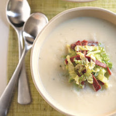 Parsnip Soup with Corned Beef and Cabbage