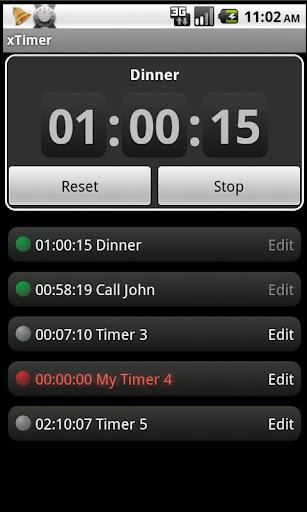 x Timer. 計時器