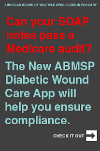 ABMSP Diabetic Wound Care App - screenshot