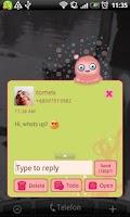 Screenshot of GO SMS Pro Green Mimi Theme