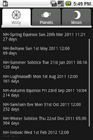 Screenshot of PaganPlanner