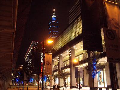 台北101美麗的夜景