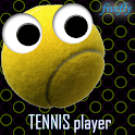Tennis player licence icon